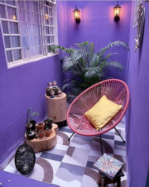 jardim de inverno com cadeira acapulco