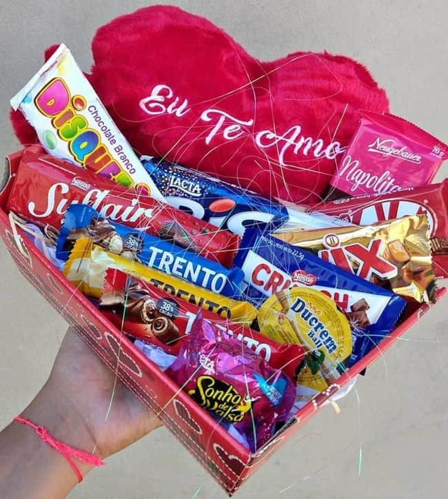 presente de dia das maes com chocolate