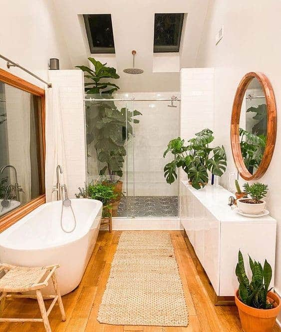 como usar plantas na decoracao do banheiro