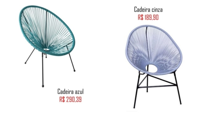 onde comprar e precos de cadeira acapulco