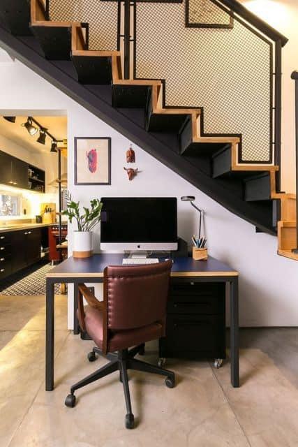 cadeira vintage e confortavel para home office