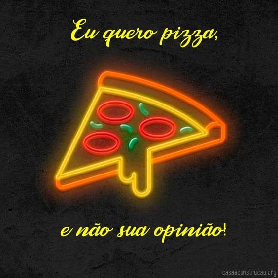 imagem e frase de pizza divertida