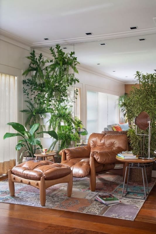 7 decoracao da sala com plantas