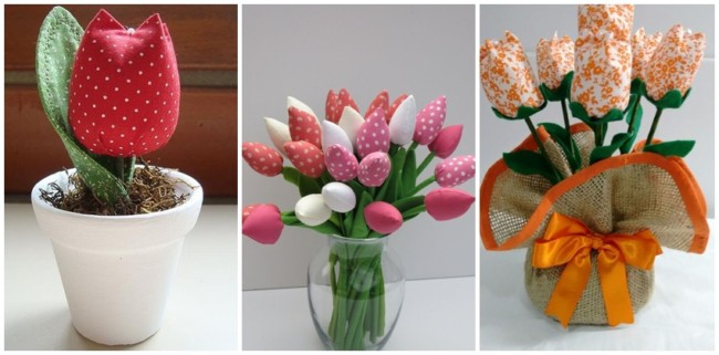 tulipa de tecido