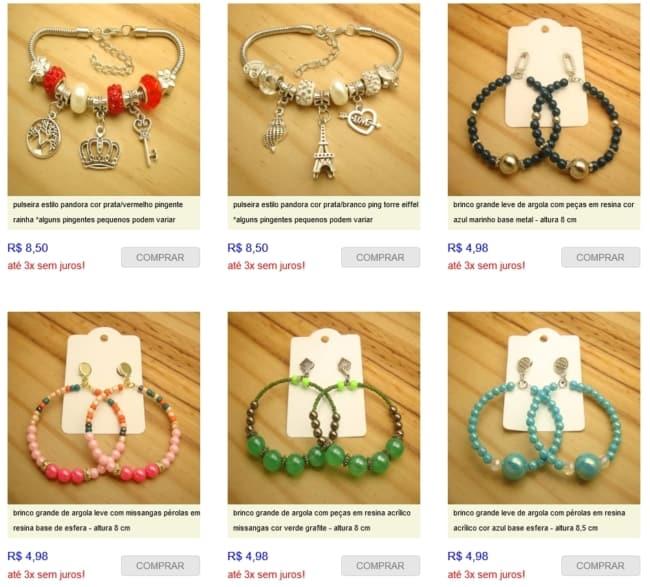 dica de fornecedor para loja de bijuterias