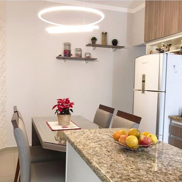 bancada de cozinha em granito Santa Cecilia