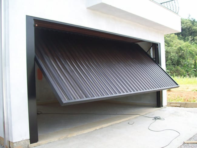 portao de garagem de elevacao automatico
