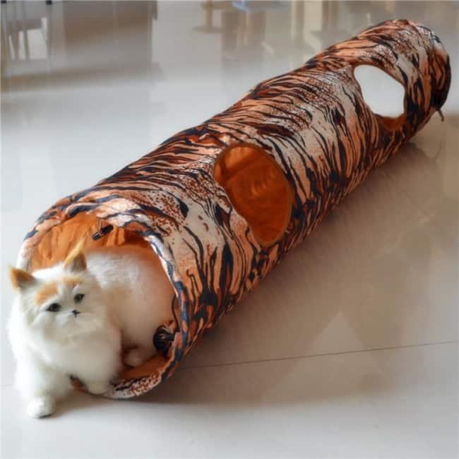 tunel reto com saidas para gatos