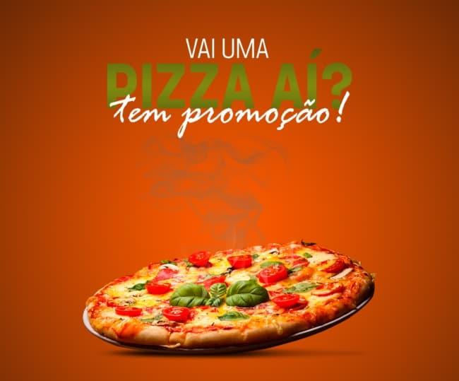 ideia para propaganda de pizza