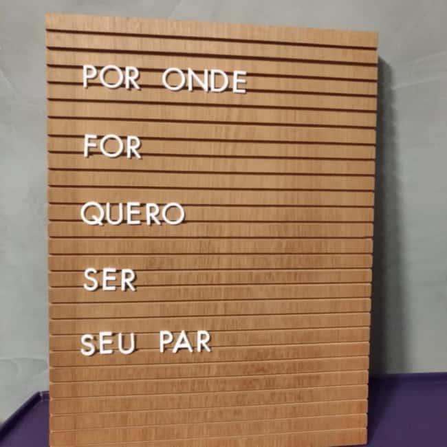 letter board grande de madeira