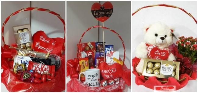 cesta de aniversario para namorada