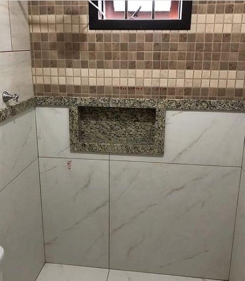 nicho de banheiro em granito Santa Cecilia