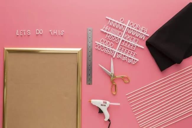 como fazer letter board