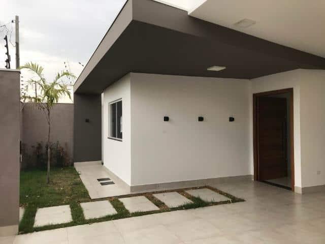 area externa de casa com porcelanato acetinado