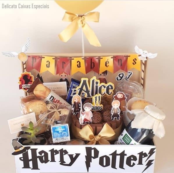 cesta de aniversario tematica para crianca