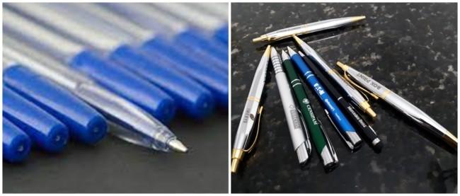 trabalho em casa com montagem de caneta