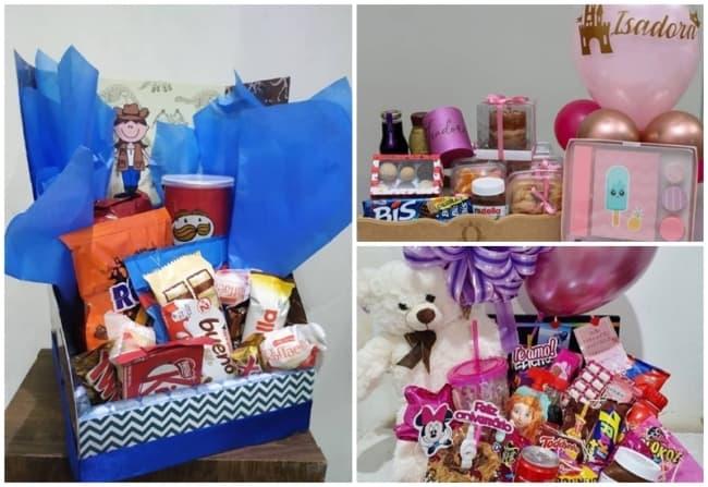 modelos de cestas para aniversario infantil