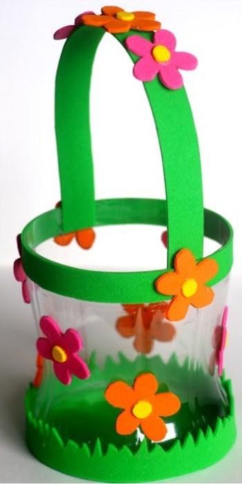 cesta de garrafa pet com alca de EVA