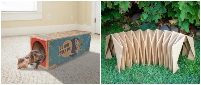 modelos de tunel de papelao para gatos