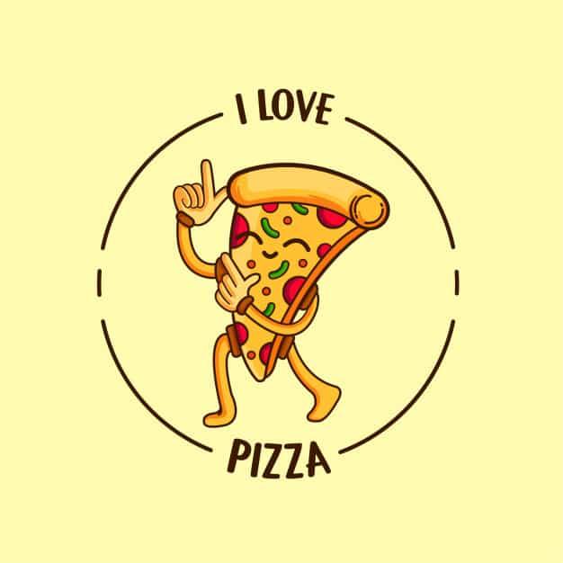frase curta e simples de pizza