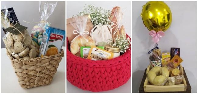 modelos de cesta simples para aniversario