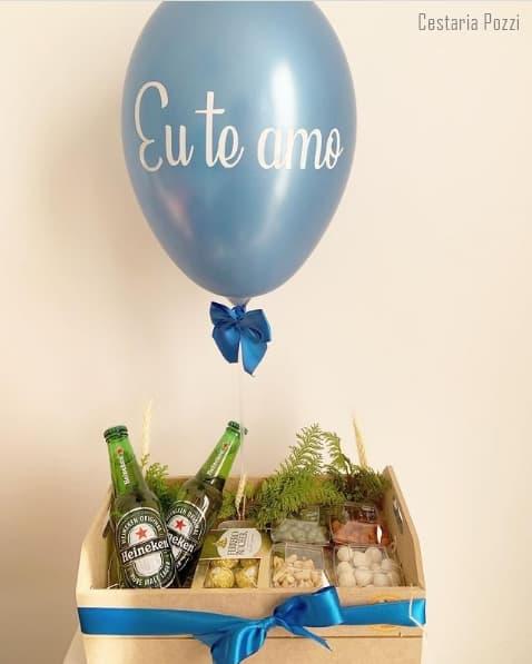 cesta de aniversario para namorado