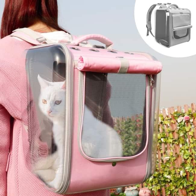 Modelo diferente de mochila propria para gatos
