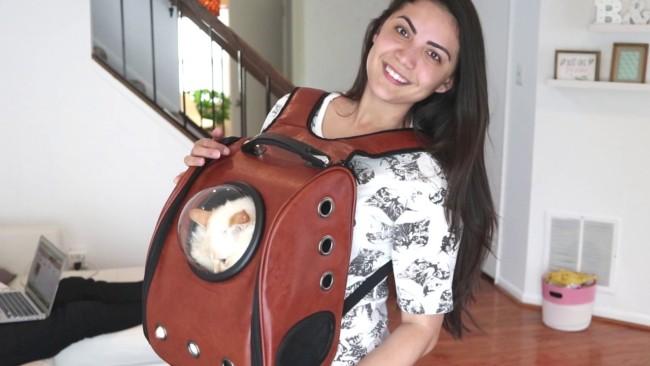 mochila para gato pri mastrocolla