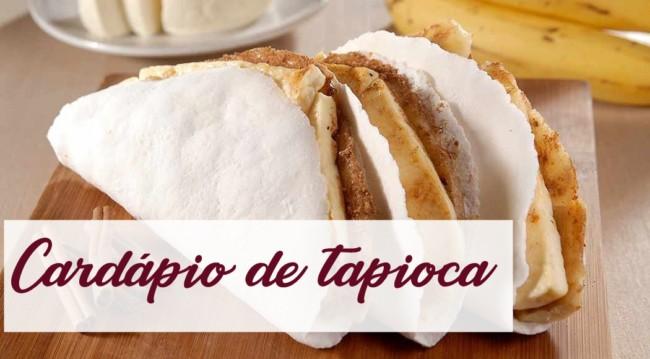 cardapio de tapioca