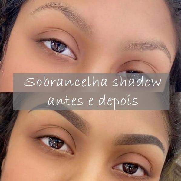 sobrancelha shadow antes e depois