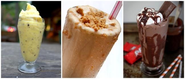 sabores diferentes de milk shake