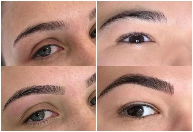 resultados de sobrancelhas preenchidas