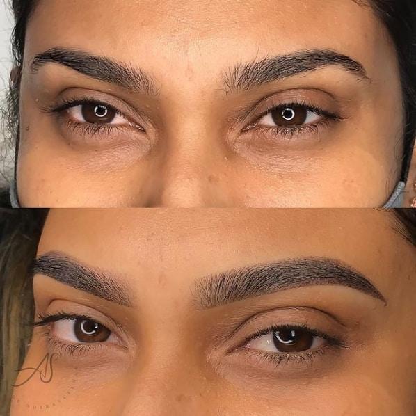 resultado de preenchimento da sobrancelha com pigmento