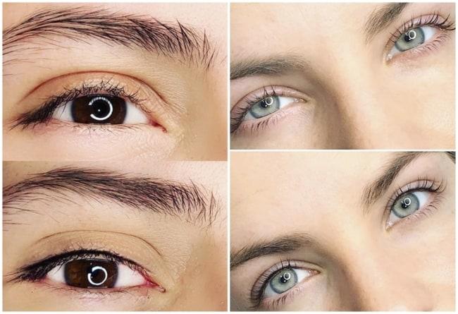 fotos de antes e depois de micropigmentacao nos olhos
