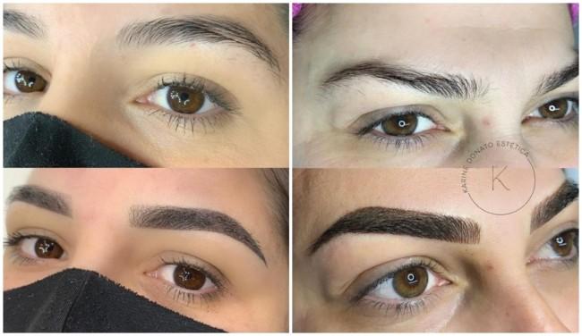 resultado antes e depois de sobrancelha shadow