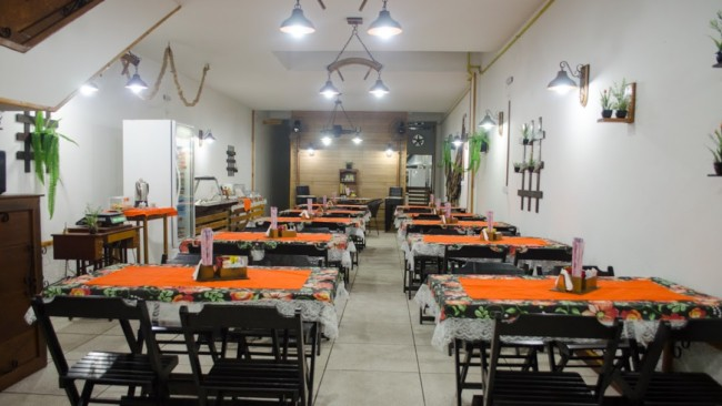 estilo rustico e simples para restaurante caseiro