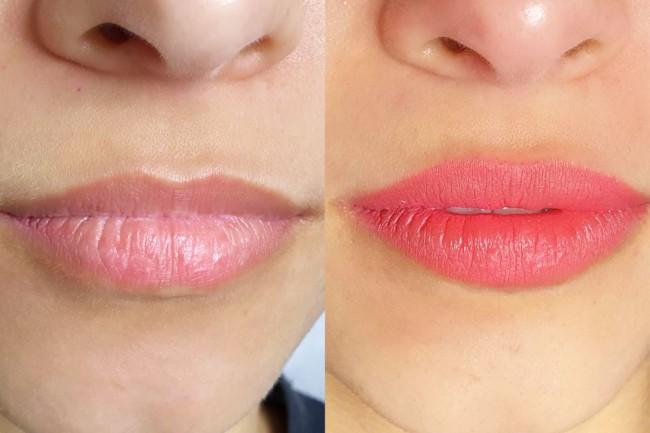resultado de micropigmentacao nos labios