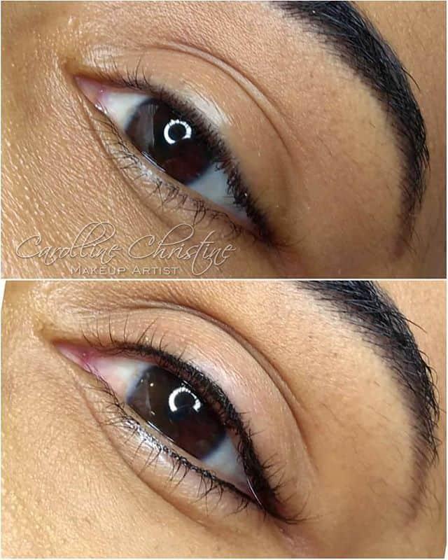 antes e depois de delianeado definitivo nos olhos
