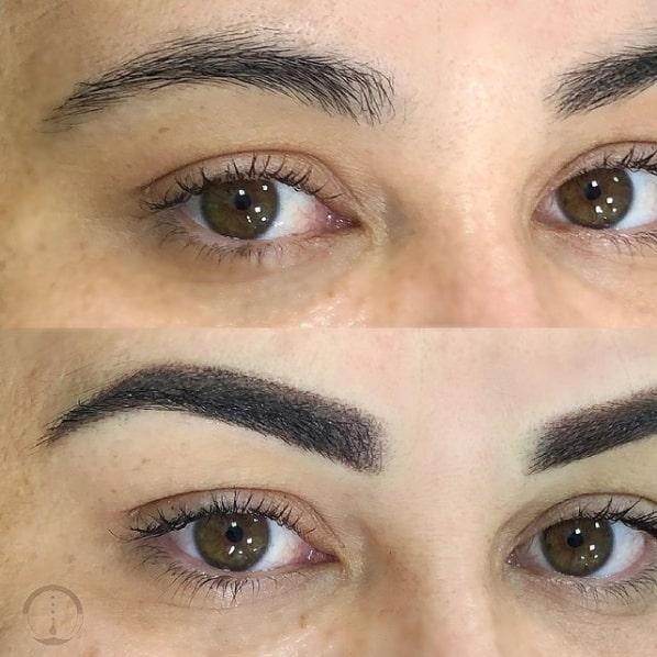 foto de micropigmentacao nas sobrancelhas