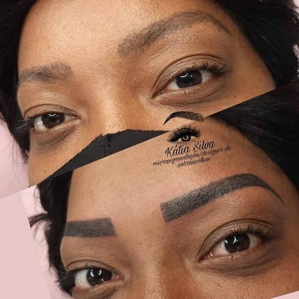 foto de sobrancelha com tecnica shadow