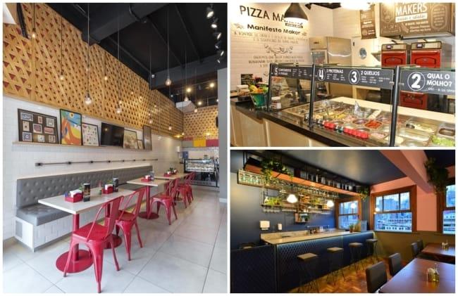 pizzaria pequena e moderna