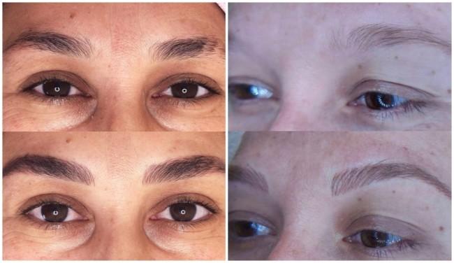 foto de antes e depois de sobrancelha fio a fio