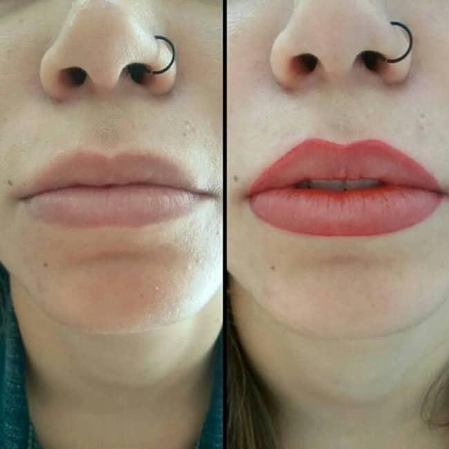 resultado de micropigmentacao antes e depois