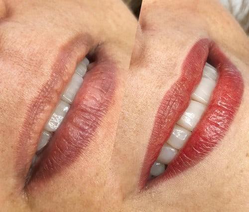 cor de micropigmentacao para labios mais escuros