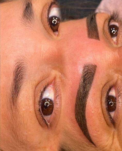 resultado de micropigmentacao em sobrancelha com falha
