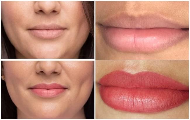 resultados de micropigmentacao nos labios