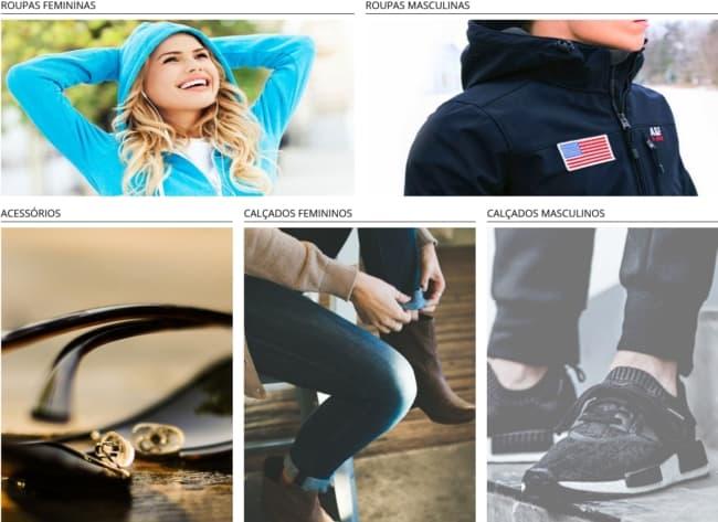 fornecedor online de roupas importadas