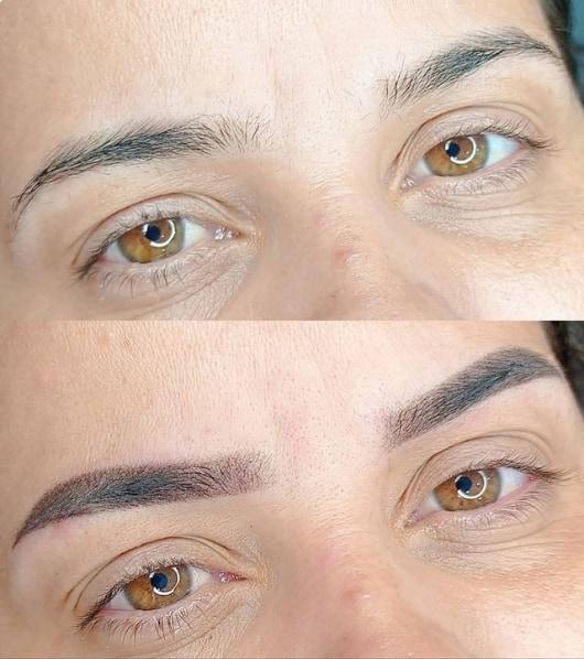 micropigmentacao de sobrancelhas antes e depois