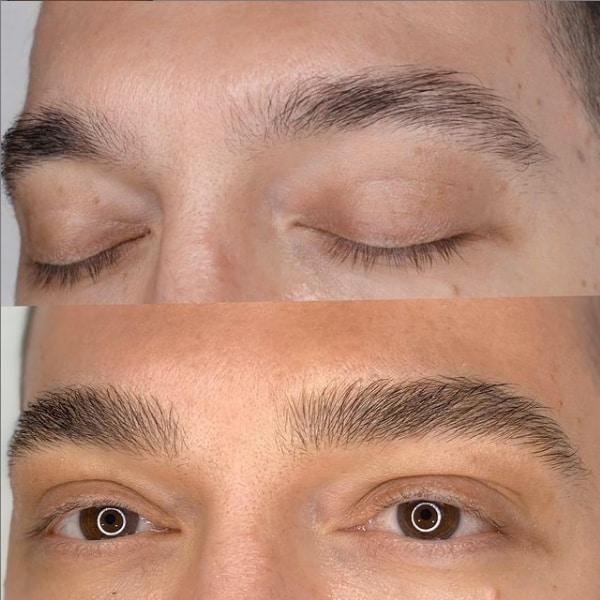 resultado de micropigmentacao masculina na sobrancelha