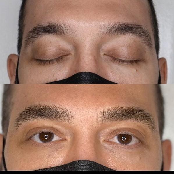 correcao de sobrancelha masculina com micropigmentacao